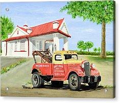 Barnett Garage Acrylic Print