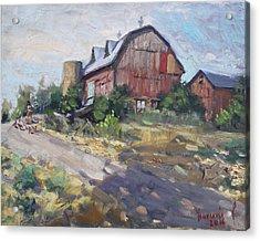 Barns In Georgetown Acrylic Print