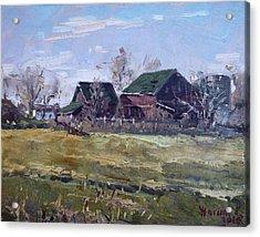 Barns In Niagara County Acrylic Print