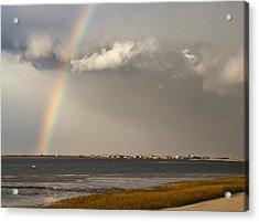 Barnstable Harbor Rainbow Acrylic Print