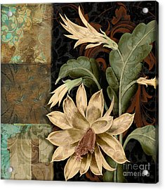 Baroque Cactus Orchid Patchwork Acrylic Print by Mindy Sommers