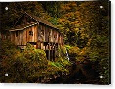 Baroque Cedar Grist Mill Acrylic Print
