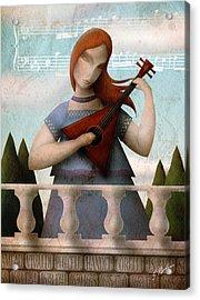Baroque In Heart Acrylic Print by Gary Bodnar
