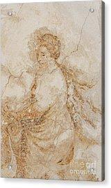 Baroque Mural Painting Acrylic Print by Michal Boubin