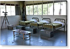 Acrylic Print featuring the photograph Barrack Interior At Fort Miles - Delaware by Brendan Reals