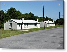 Acrylic Print featuring the photograph Barracks At Fort Miles - Cape Henlopen State Park by Brendan Reals