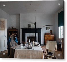 Acrylic Print featuring the photograph Barracks Interior At Fort Laramie National Historic Site In Goshen County by Carol M Highsmith