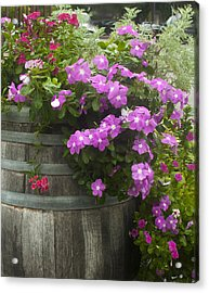 Barrel Of Flowers Acrylic Print