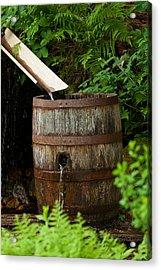 Barrel Of Water Acrylic Print
