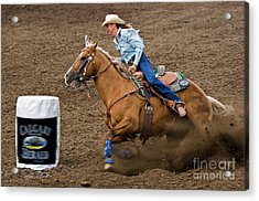 Barrel Racing Acrylic Print by Louise Heusinkveld