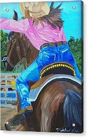 Barrel Rider Acrylic Print by Michael Lee