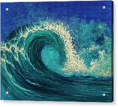 Acrylic Print featuring the painting Barrel Wave by Darice Machel McGuire