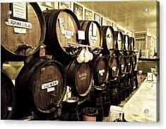 Barrels At Old Tavern Antigua Casa De Guardia Acrylic Print
