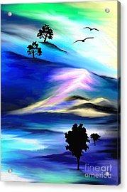 Barren Acrylic Print by Jo Baby