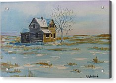 Barren Prairie Acrylic Print by Ally Benbrook