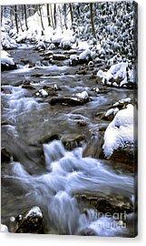 Barrenshe Run In Snow Acrylic Print by Thomas R Fletcher