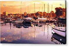 Barrie Marina Sunrise Acrylic Print