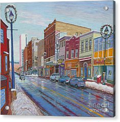 Barrington St In Winter Acrylic Print