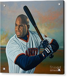 Barry Bonds Acrylic Print by Paul Meijering