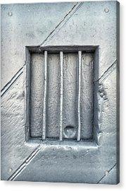 Bars In A Wall Acrylic Print by Tom Gowanlock