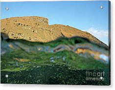 Bartolome Island Rock And Water Surface Acrylic Print by Sami Sarkis