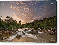 Barton Creek Greenbelt At Sunset Acrylic Print