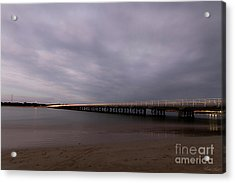 Acrylic Print featuring the photograph Barwon Heads Bridge by Linda Lees