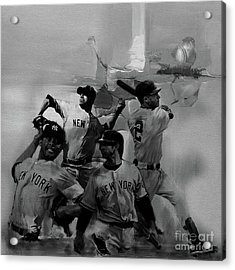 Base Ball Players Acrylic Print by Gull G