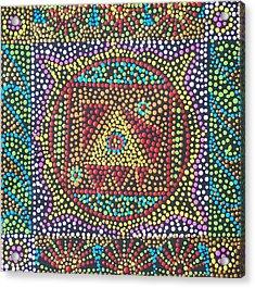 Base Chakra Acrylic Print by Vijay Sharon Govender