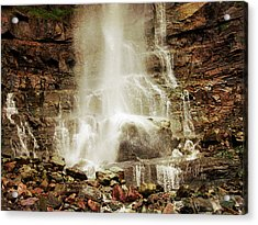 Base Of Cascade Falls Acrylic Print by Krista-