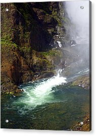 Base Of The Falls 1 Acrylic Print by Marty Koch