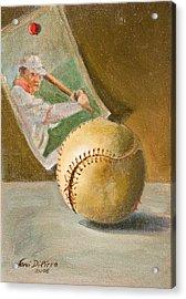 Baseball And Card Acrylic Print by Joni Dipirro