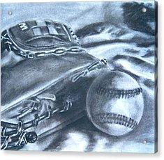 Baseball Acrylic Print by Ashlee Terras
