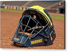 Baseball Catcher Helmet Acrylic Print