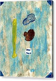Baseball Dreams Acrylic Print by Rosemary Mazzulla