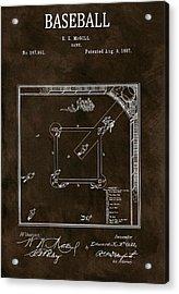 Baseball Game Patent Acrylic Print by Dan Sproul