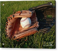 Baseball Gloves After The Game Acrylic Print