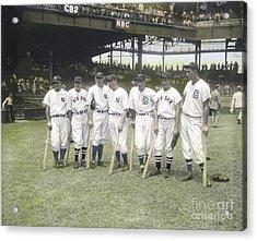 Baseball Greats At Griffith Stadium Acrylic Print by Susan Bock