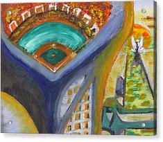Baseball Heaven Acrylic Print by Keith Cichlar