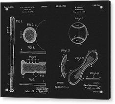 Baseball History Patent Acrylic Print