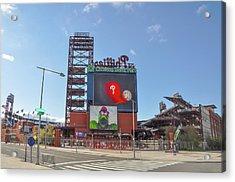 Baseball In Philadelphia - Citizens Bank Park Acrylic Print by Bill Cannon