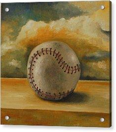 Baseball Acrylic Print by Leah Saulnier The Painting Maniac