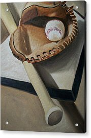 Baseball Acrylic Print by Mikayla Ziegler