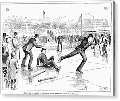 Baseball On Ice, 1884 Acrylic Print by Granger