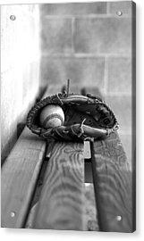 Baseball Still Life Acrylic Print by Susan Schumann