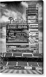 Baseball Time In Philly - Bw Acrylic Print