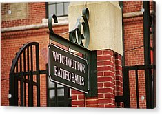 Baseball Warning Acrylic Print