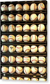 Baseball - You Have Got Some Balls There Acrylic Print by Mike Savad