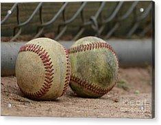 Baseballs Acrylic Print