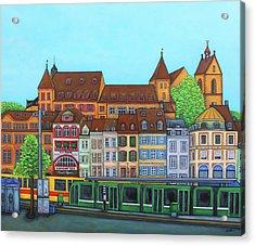 Basel, Barfusserplatz Rendez-vous Acrylic Print